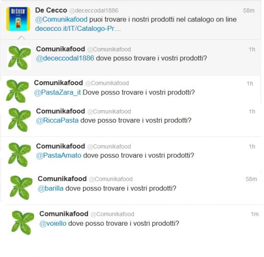 brand pasta twitter