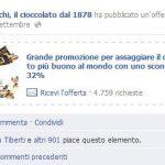 Offerta Facebook pubblicità Venchi
