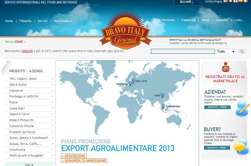 Bravo-Italy-gourmet Vendere Prodotti Tipici all'estero: Come fare