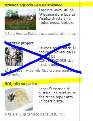 promozione prodotti alimentari facebook