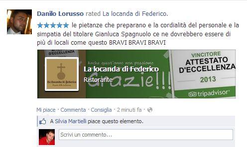 feedback-pagina-facebook Recensioni TripAdvisor vs Feedback Su Facebook [Caso Ristoranti]
