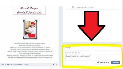 feedback-pagina-facebook1 Recensioni TripAdvisor vs Feedback Su Facebook [Caso Ristoranti]