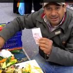 venditore mercato