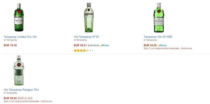 prezzi gin