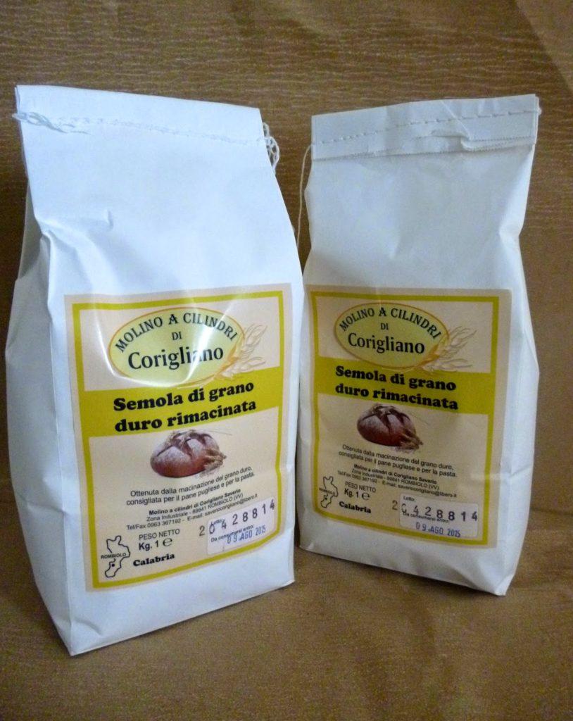 Farina di grano duro rimacinato Molino Corigliano