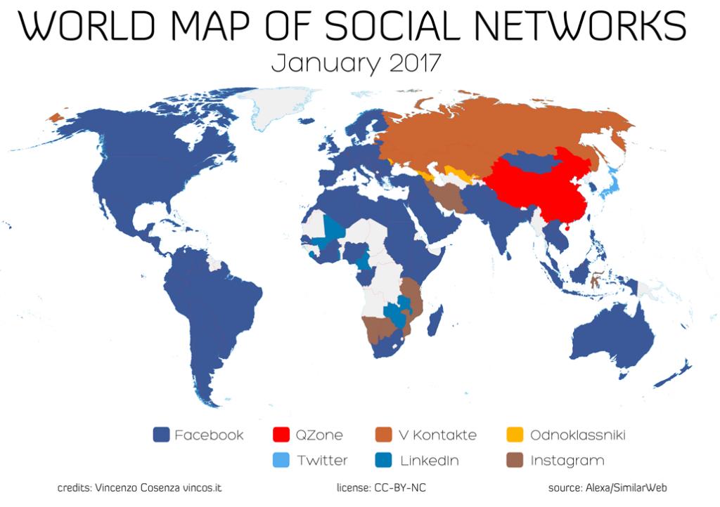 Mappa Social Media per promuvere video storytelling