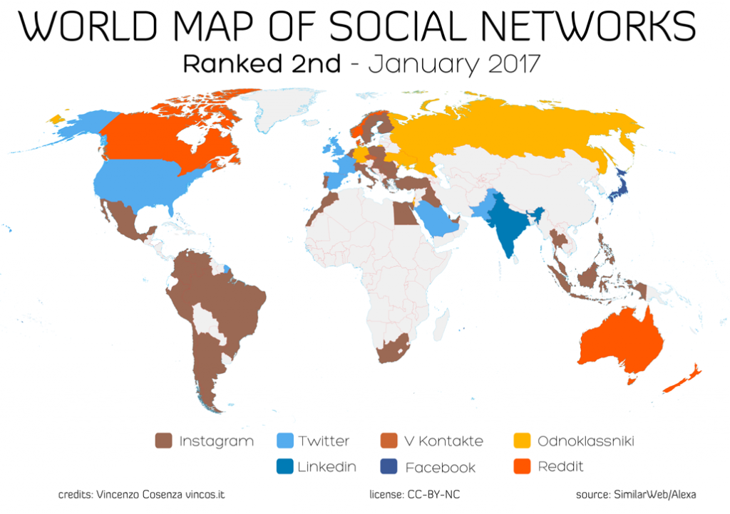 mappa social network per promuovere video online