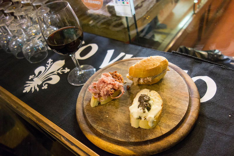 Tagliere prodotti tipici toscani da All'Antico Vinaio